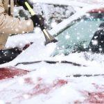 Snow & Ice on Car Windshield